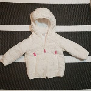 Carter's Ivory Puffer Jacket, Size 12 M